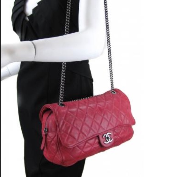 950acebf831a23 CHANEL Bags | Sold Shiva Flap Fuschia Pink Zip Flap Bag | Poshmark