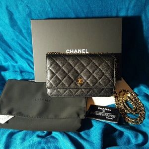 Chanel WOC Wallet on Chain Classic Black CaviarGHW