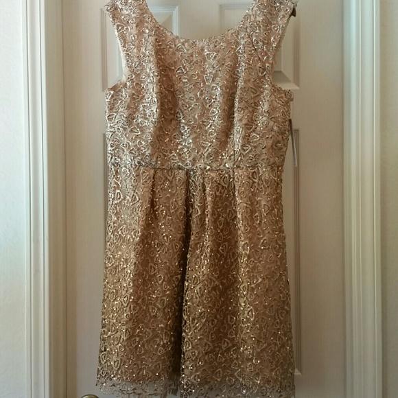 4a91a007cb2 Decode 1.8 Gold Dress sz 16 Modcloth   Dillard s