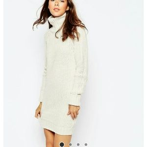 Brave Soul High Neck Sweater Dress With Long Sleev