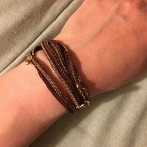 Handmade Ribbon Wrap Bracelet - 28 inches