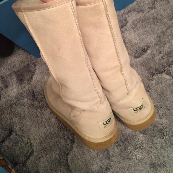 Tall light tan UGG boots