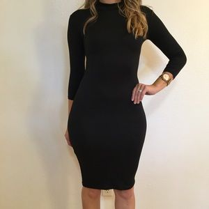 Dresses & Skirts - RESTOCKED 3/4 Sleeves High Neck Midi Dress