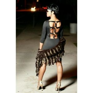 Caged Back Bodycon Dress Sample Sale