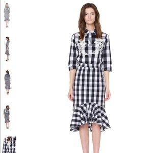 Tableau Set plaid black and white cotton-poly mix