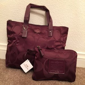 Coach Getaway Signature Small Packable Tote