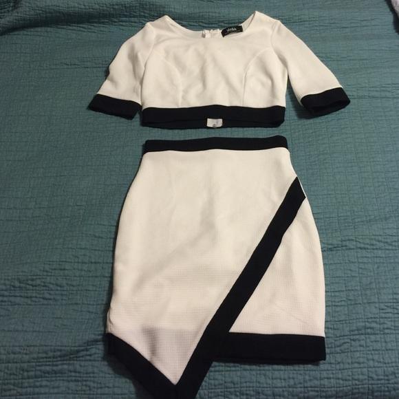 dc28e63f08 Lulu's Dresses & Skirts - NWOT Lulus Two Piece Skirt/Crop Top Set ...