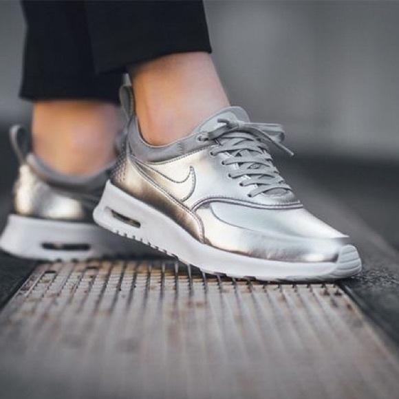 Desarmado Obligar pistola  Nike Shoes | Nike Silver Premium Air Max Thea | Poshmark