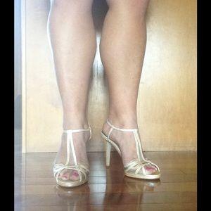 Caparros Shoes - Strappy Peach Glitz Laura Sandals