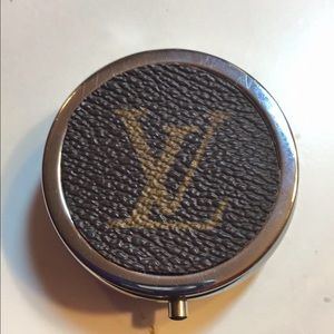 Louis Vuitton Accessories - Pill case in-layed with authentic LV canvas.