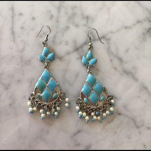 Jewelry - Turquoise chandelier earrings