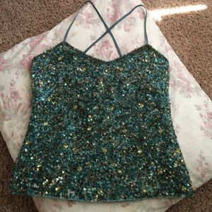 Jcrew Collection Silk Beaded Top
