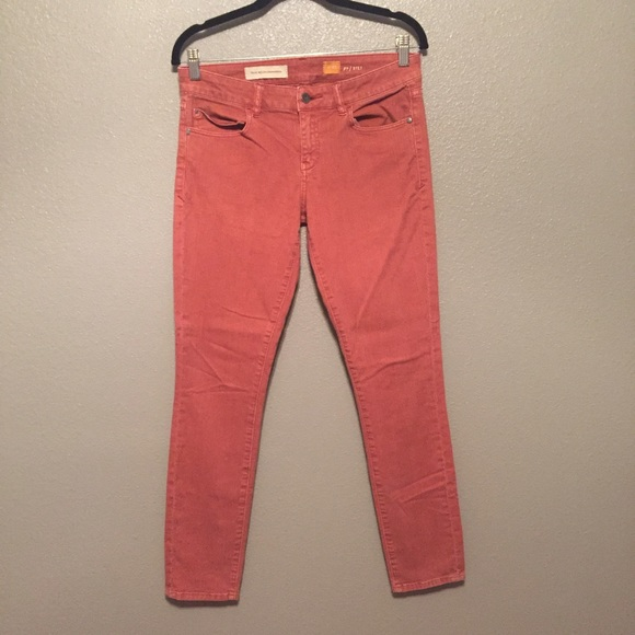 96% off Anthropologie Denim - Anthropology red stretch skinny ...