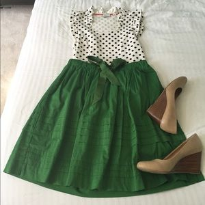 Green Anthropologie Skirt