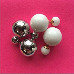T&J Designs Jewelry - 🎉LAST PRICE DROP! White Double Sided Earrings