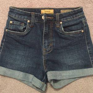 STS Blue High Waist Dark Jean Shorts Size 0