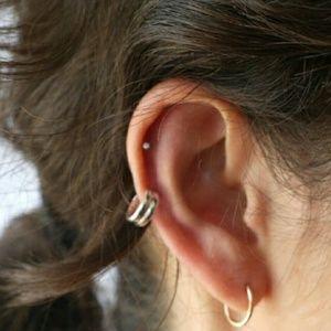 Sunahara Jewelry Jewelry - 16K Gold/Sterling Silver Double/Single Ear Cuff