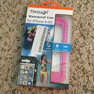 Accessories - Pink waterproof iPhone 6 case