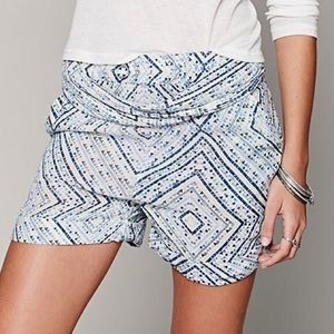 Free People Pants - FREE PEOPLE Classic Shorts Patterned Bohemian Mini