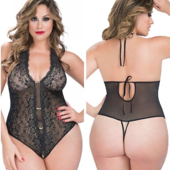 21a70289ccbc8 Crotchless PLUS size Lingerie TEDDY Boutique