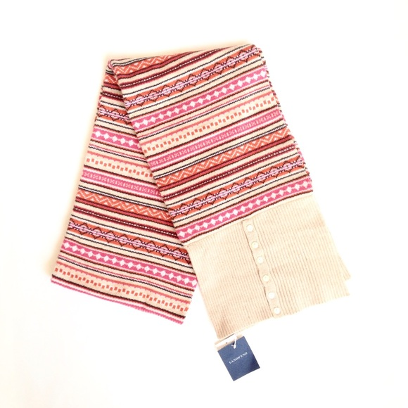 50% off Lands' End Accessories - Lands End Fair Isle Scarf NWT ...