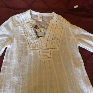 NWT white blouse ! S