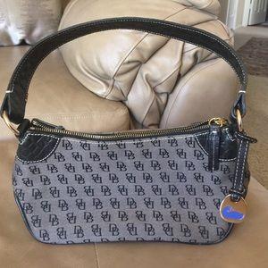 Dooney & Bourke Handbags - Dooney & Bourke Navy Croco Leather Shoulder Bag