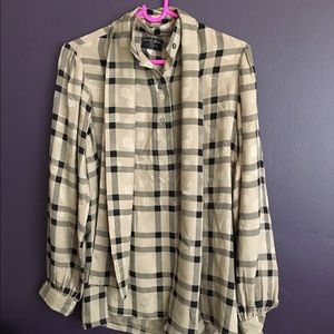 Turnbull & Asser Tops - Turnbull & Asser Plaid Silk Blouse