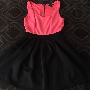 Black and hot pink dress