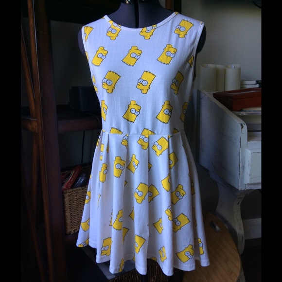 Omighty Dresses Bart Simpson Dress Sz Small Poshmark