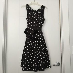 Black Jessica Howard polka dot skirt on Poshmark
