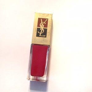 YSL La Laque Red nail polish