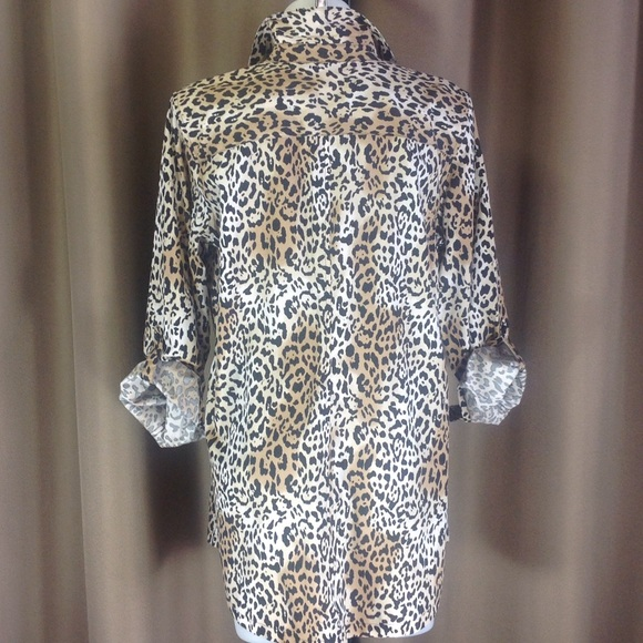 80 Off Chico 39 S Tops Chico 39 S No Iron Tunic Shirt From