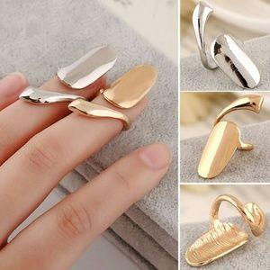 Gold Tone Nail Ring.