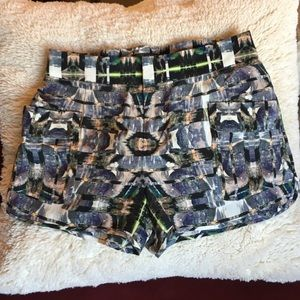 NWOT {Intermix} silk printed shorts