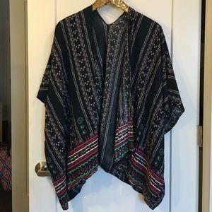 Tops - Short sleeve navy kimono