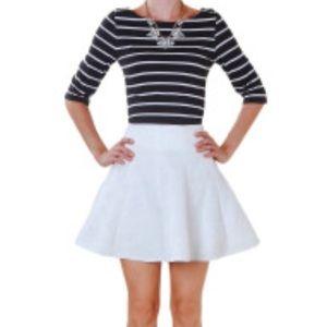 NWT{Humble Chic} brocade Skater Skirt
