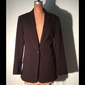 Norma Kamali Jackets & Blazers - Norma Kamali Boyfriend Jacket black pinstripe-NWT