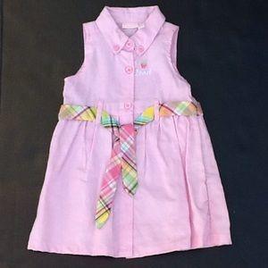 IZOD Baby Girls  Sleeveless Dress Size 12 months