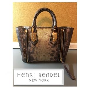 henri bendel Handbags - Henri Bendel Mini A-list Lizard Snakeskin Satchel