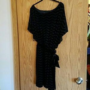 White House Black Market Dresses - White House Black Market Chevron Velvet Dress XL