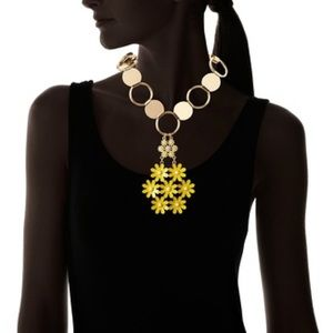 Floral Pendant Necklace, Gold/Yellow