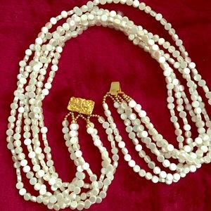 HOST PICK Big Six Strand Pearl Necklace