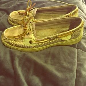 Sperry Top-Sider Shoes - Rare gold Sperrys