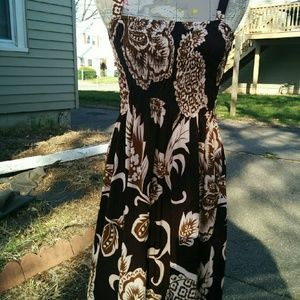 Dresses & Skirts - 🚫🚫🚫🚫SOLD!🚫🚫🚫🚫Brown and bage summer dress