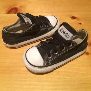 Baby size 7 Black & White Converse All Star Shoes