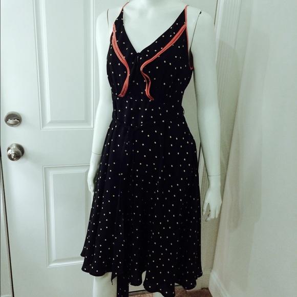 f38d2004ac9ed Girls From Savoy Dresses & Skirts - Black and White Polka Dot Gull Wing  Silk Dress