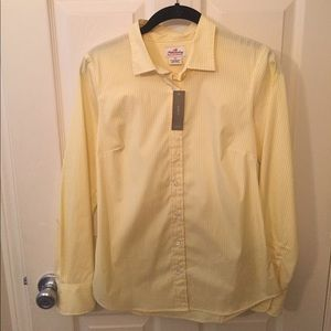 NWT J.Crew Haberdashery yellow stretch shirt, XS.