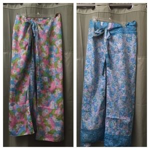 Earthbond Pants - Earthbound silk wrap pants plus made in India