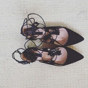 Topshop Ghillie Flats